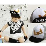 mũ lưới lật vành 100% cotton phong cách Hàn quốc,  Size: 48-52cm( 1-5 tuổi)
