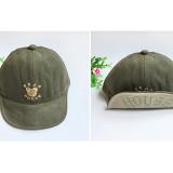mũ nhung thêu gấu vành mềm phong cách Hàn Quốc , 100% cotton  Size: 9 tháng-3 tuổi(48-50cm)