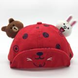 mũ lật vành hoạt hình gấu và thỏ  Size: 6-24  tháng(46-48cm)
