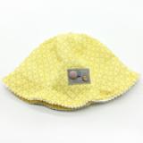 mũ rộng vành cotton đính hạt nút phong cách HQ  Size: 1- 4 tuổi (48cm)