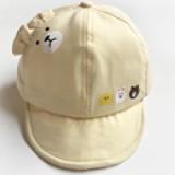 mũ gấu cotton lật vành  Size: 6- 30 tháng (44-48cm)