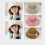 mũ cỏ  đi biển phong cách HQ kiểu 2( mềm có thể gấp lại, dây điều chỉnh vòng đầu)  Size: 3-8 tuổi (free size 52-53cm)