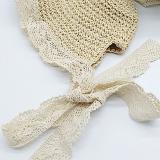 mũ cỏ công chúa phối ren phong cách HQ  Size: 3-12 tuổi (free size 50-54cm)