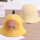 mũ rộng vành heo peppa dùng được 2 mặt  Size: 2-5 tuổi (50-52cm)