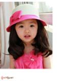 nón vành rộng gắn nơ phong cách Hàn Quốc( mặt trong)  Size: trên 2 tuổi(51-52cm)