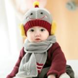 set nón len kèm khăn nụ cười rô-bốt nhỏ  Size: 7-30 tháng(khăn dài 110x13cm, mũ cao40-50x17cm)