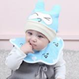 mũ thun kèm khăn nụ cười  Size: 2-15 tháng, vòng đầu 34-45cm