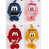 mũ len che tai lót bông chữ M  Size: 9-48 tháng, vòng đầu 40-52cm,