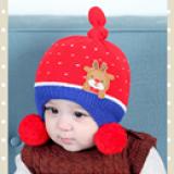 mũ len che tai gắn hươu nhỏ  Size: 6 thang- 4 tuổi, vòng đầu 38-48cm,