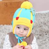 mũ len lót bông đính gấu nhỏ  Size: 6thang- 4 tuổi, vòng đầu 40-48cm,