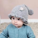 mũ len nhún bèo  Size: 3tháng - 2 tuổi