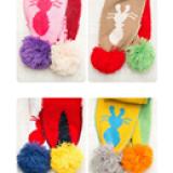 set Mũ len Rabbit(len dệt kim lót nhung)  Size: 5-36 tháng (45-52cm)