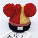 mũ len bông tròn 3 màu SKY  Size: 2-6 tuổi  (46-50cm)