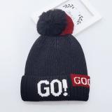 mũ len bông tròn 2 màu GO  Size: 2-6 tuổi (46-50cm)