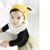 mũ thun vàng có tai phong cách Hàn Quốc  Size: trên 4 tháng, 35-42cm