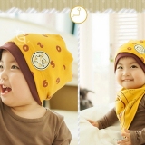 set nón thun + khăn đồng hồ  Size: 3 tháng- 2 tuổi