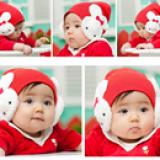 mũ len che tai thỏ trắng(hồng đậm, hồng nhạt, đỏ, vàng, đen)  Size: 4 tháng- 20tháng
