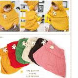 Set Áo choàng+nón len tiểu thư  Size: trên 9 tháng