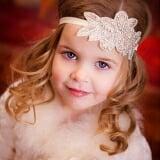 băng đô handmade kết kim sa hoa lá phong cách Âu Mỹ  Size: baby 35cm, kids 40cm,20g