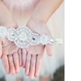 băng đô handmade đính cườm phong cách châu Âu,Mỹ  Size: baby 35cm, kids 40cm(chu vi 40cm,rộng 7cm,27g)