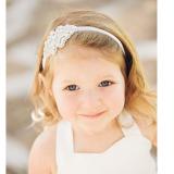 băng đô handmade đính cườm phong cách châu Âu,Mỹ  Size: baby 35cm, kids 40cm(hạt cườm 9x6cm, 16g)