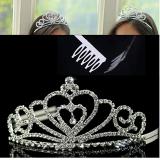 vương miện công chúa số 2-Hàng Handmade tinh xảo, với nguyên phụ liệu nhập từ HQ,Hàng xuất HQ.  Size: trên 1 tuổi