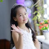 vương miện cài tóc trái tim-Hàng Handmade tinh xảo, với nguyên phụ liệu nhập từ HQ,Hàng xuất HQ.(hình khách chụp gửi shop)  Size: trên 1 tuổi