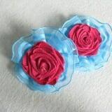 Kẹp tóc nơ hoa hồng đỏ- Handmade