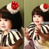Kẹp tóc vương miện công chúa nhỏ phong cách Hàn Quốc