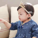 Băng đô vương miện vàng mềm Hapyy Prince Hàn Quốc Size free size