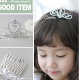 vương miện cài tóc -Hàng Handmade tinh xảo, với nguyên phụ liệu nhập từ HQ,Hàng xuất HQ.  Size: 1 tuổi trở lên
