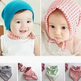 Khăn quàng cổ hoặc trùm đầu giữ ấm cho bé phong cách Hàn Quốc Chất liệu 100% cotton mềm mịn  Size: 44 * 45cm, 0-12 tháng