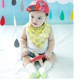 yếm tam giác dùng được 2 mặt -phong cách Hàn quốc , có thể thể dùng làm khăn quàng cổ, khăn tay, chất liệu vải bông mềm mịn  Size: đáy 45 x cao 26cm