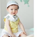 yếm tròn dùng được 2 mặt -phong cách Hàn quốc , có thể thể dùng làm khăn quàng cổ,   chất liệu vải bông mềm mịn  Size: dài 43 x cao 12,5cm