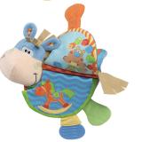 Chào mừng bạn đến khám phá cuốn sách vài - đồ chơi giáo dục( có thể cho bé ngậm cắn nướu)  Bạn có thể treo món đồ chơi này trên xe đẩy em bé để bé của bạn có thể chơi trong lúc được đẩy đi dạo! Hàng xuất khẩu châu Âu. Sách vải rất dễ giặt sạch, mẹ nên thường xuyên vệ sinh để bé được chơi khỏe mạnh nhé!  Size: 27 × 21cm 4 Trang 8 bề mặt (kể cả mặt trước và nắp lưng)
