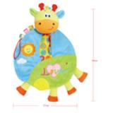 khăn chơi hình thú ★ Lứa tuổi: 0+ ★ Giúp bé phát triển các giác quan Bạn có thể treo món đồ chơi này trên xe đẩy em bé để bé của bạn có thể chơi trong lúc được đẩy đi dạo! Hàng xuất khẩu châu Âu. Khăn vải rất dễ giặt sạch, mẹ nên thường xuyên vệ sinh để bé được chơi khỏe mạnh nhé!  Size: 21 * 30cm, thương hiệu TOLOLO