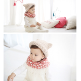khăn tròn chấm bi phong cách Hàn Quốc  Size: trên 9 tháng