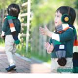 khăn ngôi sao sọc sài phong cách Hàn Quốc  Size: dài 136cm, rộng 12cm