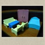 Bộ bàn ghế giường tủ - Sản phẩm mang đến cho bé trải nghiệm tự tay sắp xếp và trang trí các vật dụng trong gia đình, từ đó bé có thể giúp mẹ sắp xếp các vật dụng nhỏ trong nhà.  - Đồ chơi có màu sắc tươi tắn, bắt mắt, gây sự thích thú cho trẻ, giúp trẻ phát triển thị giác và nhận biết các màu sắc cơ bản.  - Ngoài ra, mẹ có thể cùng bé cùng chơi với bộ bàn ghế, giường tủ Edugames, mô phỏng không khí gia đình cho bạn búp bê xinh xắn.  Size: 30 x 20 x 20 cm.