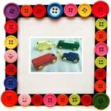 Bộ đồ chơi các phương tiện giao thông Bằng gỗ sơn màu gồm 4 loại ô tô gỗ.